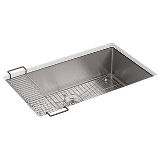 Kohler Strive Undermount Stainless Steel 0-Hole Single Bowl Kitchen Sink