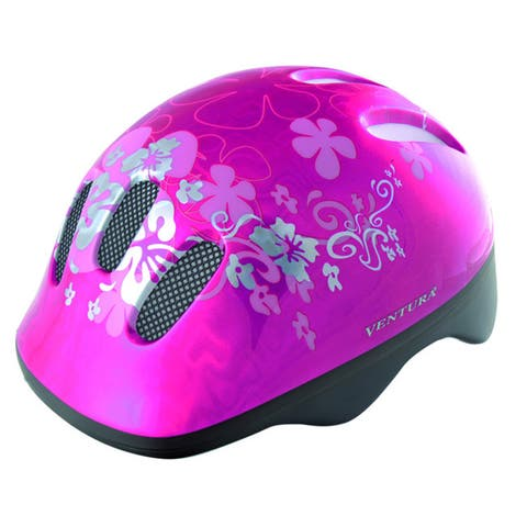 Ventura Pink Flower Children's Helmet (50-57 cm)