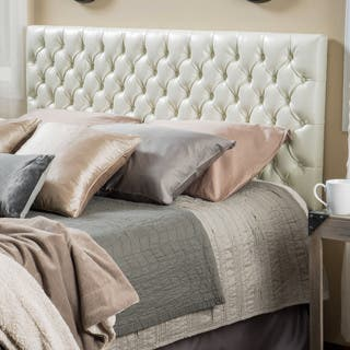 Jezebel Adjustable King/ California King Tufted Bonded Leather Headboard by Christopher Knight Home|https://ak1.ostkcdn.com/images/products/10522410/P17605588.jpg?impolicy=medium