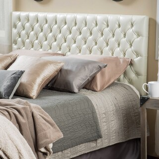 Jezebel Adjustable King/ California King Tufted Bonded Leather Headboard by Christopher Knight Home