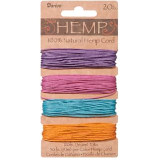 Hemp Cord 20lb 120'Pastels|https://ak1.ostkcdn.com/images/products/10522522/P17605675.jpg?impolicy=medium