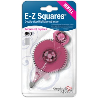 Scrapbook Adhesives EZ Squares Refill 650/PkgPermanent, Use In 12066