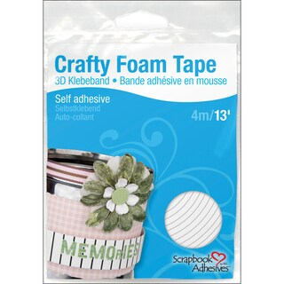3L Scrapbook Adhesives Crafty Foam Tape RollWhite, .375inX13'
