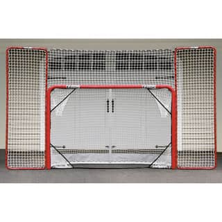 EZGoal Hockey Folding Pro Goal with Backstop and Targets, 2-Inch, Red/White|https://ak1.ostkcdn.com/images/products/10522541/P17605714.jpg?impolicy=medium