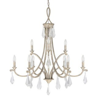 Capital Lighting Harlow Collection 9-light Silver Quartz Chandelier