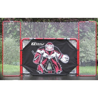 2-inch Heavy-Duty Official Regulation Folding Metal Hockey Goal with Targets, Backstop and Shooter Tutor