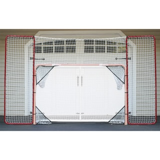 Hockey Backstop Rebounder and 4 Targets Fits All 4x6 Goals