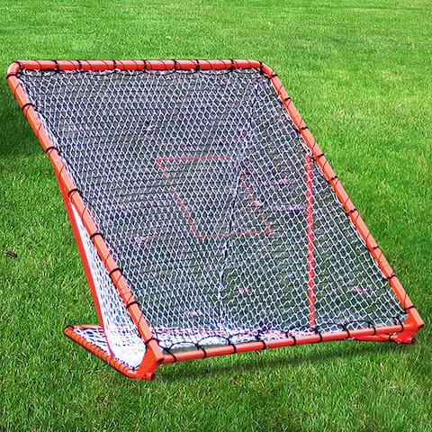 Lacrosse Folding Goal with Tilting Throwback