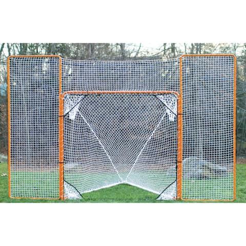 EZGOAL Folding Metal Lacrosse Goal and Rebounder