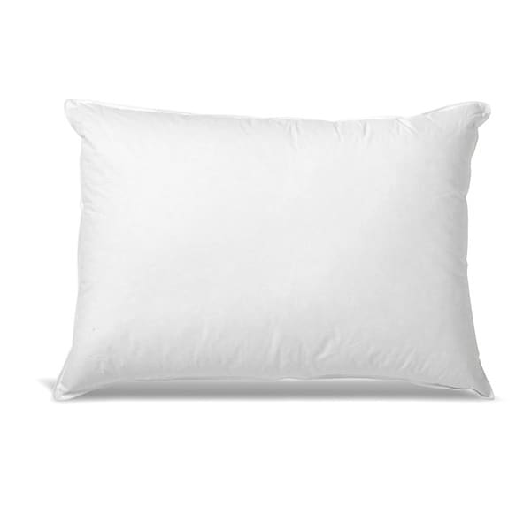 Hotel style down and feather side stomach sleeper pillow for Best down pillows for stomach sleepers