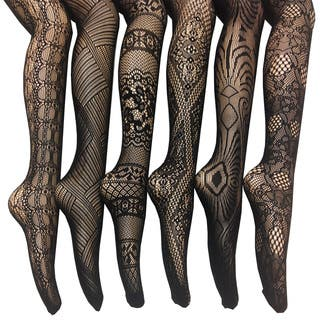 Women's Fishnet Lace Stocking Tights (Pack of 6)|https://ak1.ostkcdn.com/images/products/10522565/P17605727.jpg?impolicy=medium
