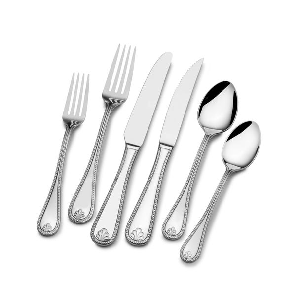 Shop St James Kings Bead 18 10 Stainless Steel 77 Piece Flatware