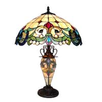 Chloe Tiffany Style Victorian Design 2+1-light Antique Bronze Table Lamp