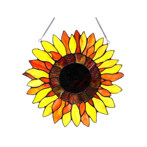 Chloe Sunflower Design Window Panel/Suncatcher
