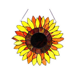 Chloe Lighting Sunflower Design Window Panel/Suncatcher