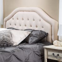 Angelica Adjustable King/ California King Tufted Fabric Headboard by Christopher Knight Home
