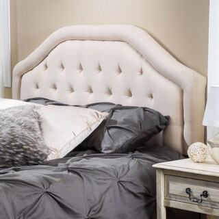 angelica adjustable king california king tufted fabric headboard by christopher knight home
