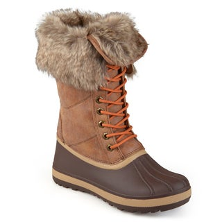 Journee Collection Women's 'Larch' Cold Weather Lace-up Boots