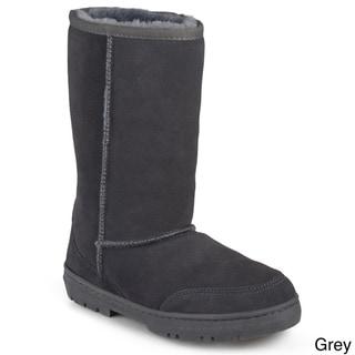 Brumby Women's 'Shear' Fleece Lined Microsuede Boots