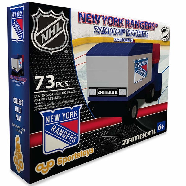Oyo New York Rangers 73-Piece Zamboni Building Set