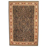 Herat Oriental Indo Hand-knotted Vegetable Dye Tabriz Wool and Silk Rug - 12' x 18'