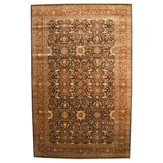 Herat Oriental Indo Hand-knotted Vegetable Dye Bidjar Wool Rug (11'7 x 18')