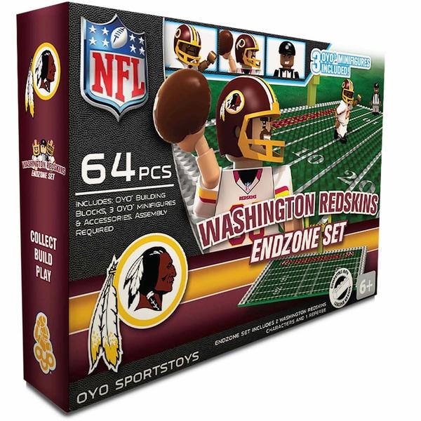 Oyo NFL Washington Redskins 64-Piece End Zone Building Set