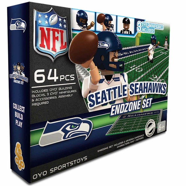 Oyo NFL Seattle Seahawks 64-Piece End Zone Building Set