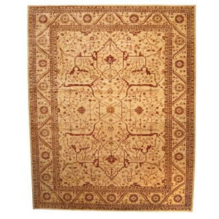 Herat Oriental Afghan Hand-knotted Vegetable-dyed Oushak Wool Rug (13' x 16'3)