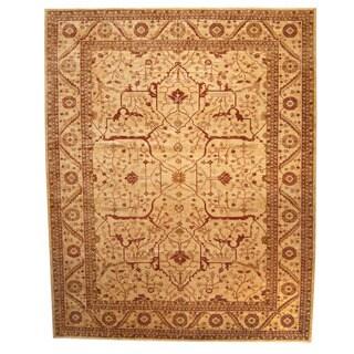 Herat Oriental Afghan Hand-knotted Vegetable Dye Oushak Wool Rug (13' x 16'3)