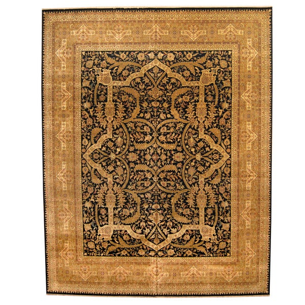 Fine Round Persian Bidjar Area Rug Hand Knotted Wool And: Shop Herat Oriental Indo Hand-knotted Vegetable Dye Bidjar