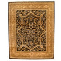 Herat Oriental Indo Hand-knotted Vegetable Dye Bidjar Wool Rug (11'9 x 15') - 11'9 x 15'
