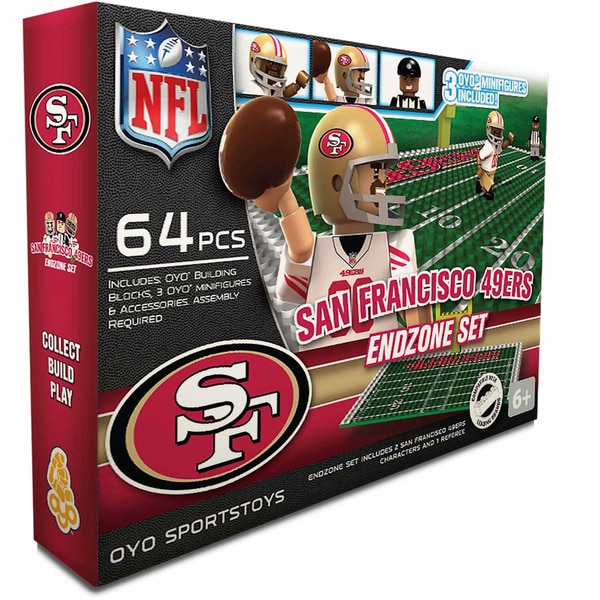 Oyo NFL San Francisco 49ers 64-Piece End Zone Building Set