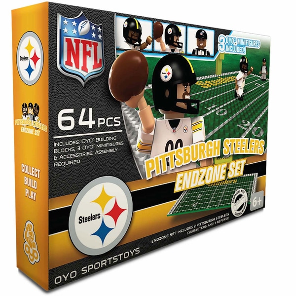 Oyo NFL Pittsburgh Steelers 64-Piece End Zone Building Set