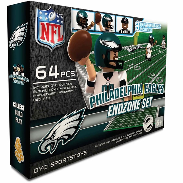 Oyo NFL Philadelphia Eagles 64-Piece End Zone Building Set