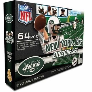 Oyo NFL New York Jets 64-Piece End Zone Building Set