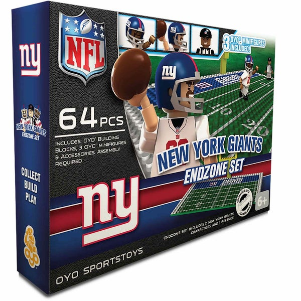 Oyo NFL New York Giants 64-Piece End Zone Building Set