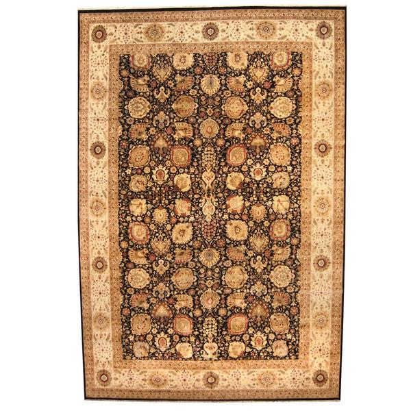 Indo Persian Tabriz Wool Area Rug: Shop Handmade Herat Oriental Indo Vegetable Dye Tabriz
