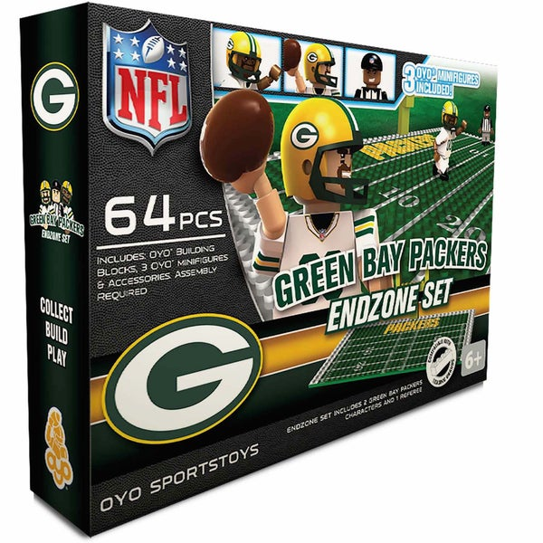 Oyo NFL Green Bay Packers 64-Piece End Zone Building Set