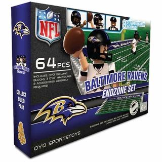 Oyo NFL Baltimore Ravens 64-Piece End Zone Building Set