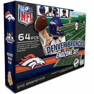 Oyo NFL Denver Broncos 64-Piece End Zone Building Set