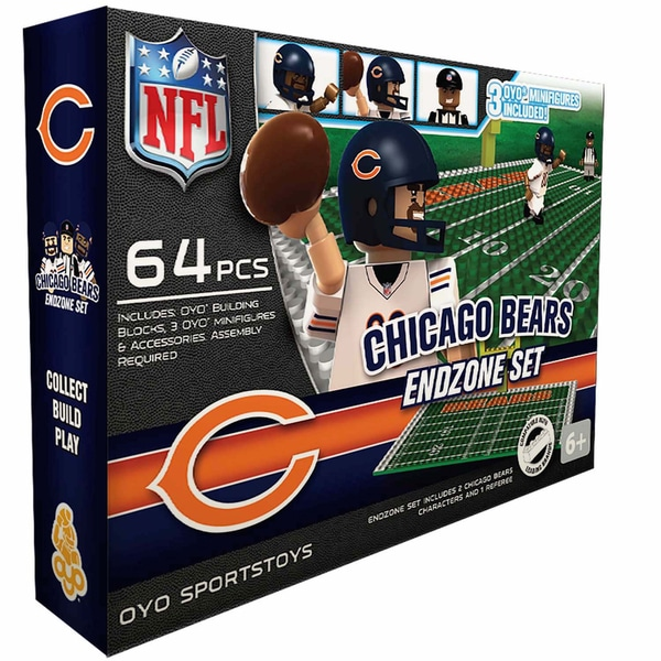 Oyo NFL Chicago Bears 64-Piece End Zone Building Set