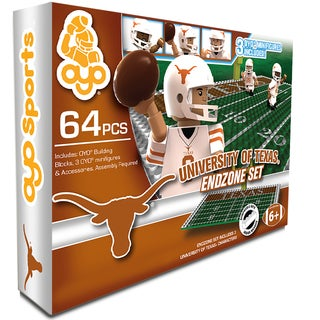 Oyo NCAA Texas Longhorns 64-Piece End Zone Building Set
