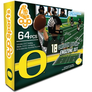 Oyo NCAA Oregon Ducks 64-Piece End Zone Building Set