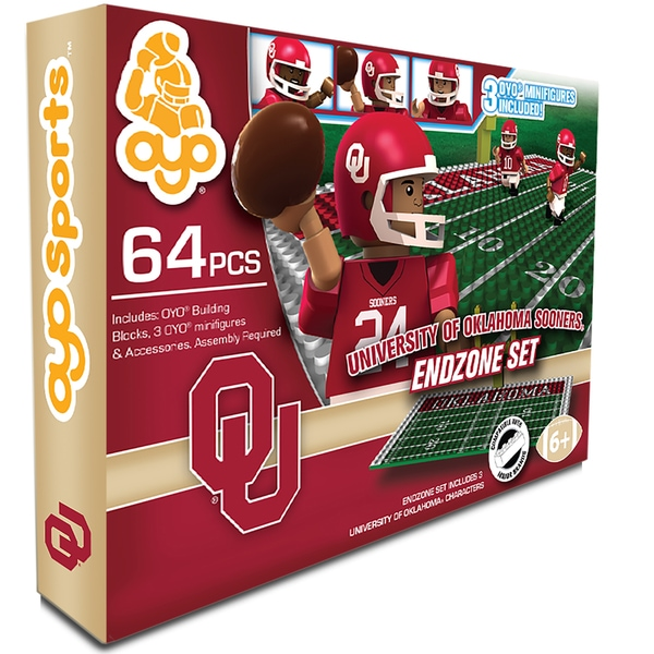 Oyo NCAA Oklahoma Sooners 64-Piece End Zone Building Set