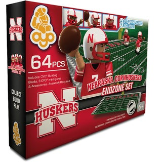 Oyo NCAA Nebraska Cornhuskers 64-Piece End Zone Building Set