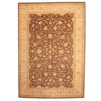 Herat Oriental Afghan Hand-knotted Vegetable Dye Oushak Wool Rug (11'8 x 17)