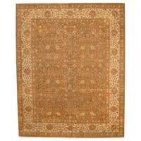 Herat Oriental Indo Hand-knotted Vegetable Dye Tabriz Wool Rug (12' x 15') - 12' x 15'