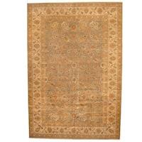 Handmade Herat Oriental Indo Vegetable Dye Tabriz Wool Rug (India) - 13' x 19'
