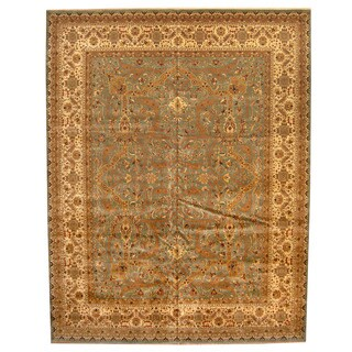 Herat Oriental Indo Hand-knotted Vegetable Dye Bidjar Wool Rug (12' x 15')